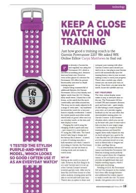 Keep a close Watch on Training
