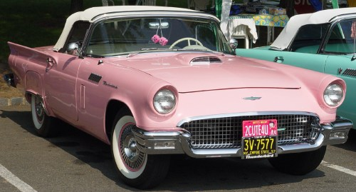 Pink Ford Thunderbird