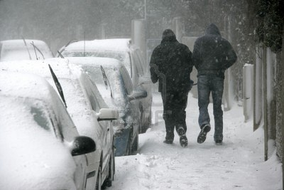car in the wintertime