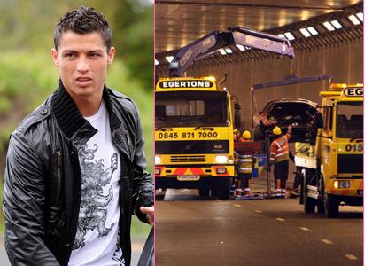 Cristiano Ronaldo Ferrari Crash