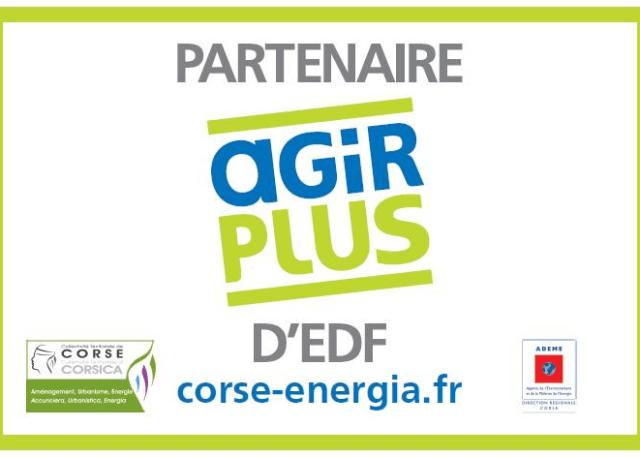 Offre Agir Plus de EDF / CTC programme solidarité énergétique en Corse