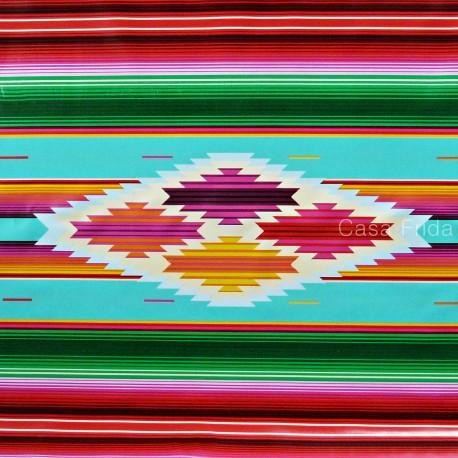 Oilcloth Sarape  Tablecloth to the half meter  Casa Frida