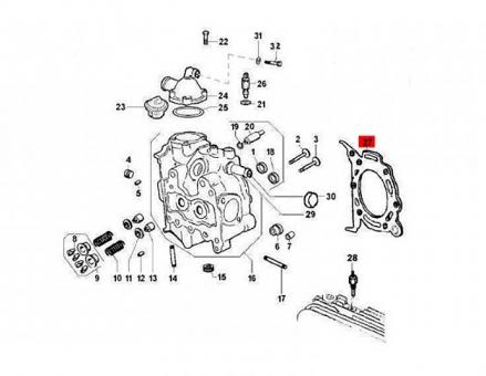 Zylinderkopfdichtung 2,6mm Ape TM 703 Diesel Calessino