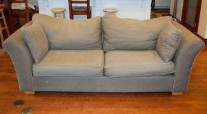 Grey sofa seat