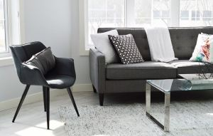 dark grey sofa seat