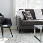 dark grey sofa seat