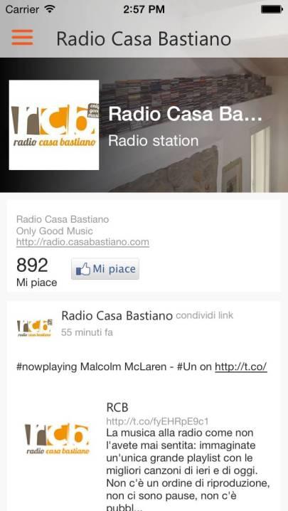 App RCB iOS FACEBOOK