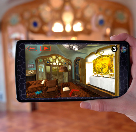 Videoguide with augmented and virtual reality  Casa Batll