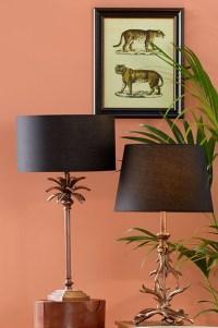 Antique Copper Antler Table Lamp | Casa Bella Furniture UK