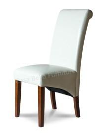 Verona Ivory Leather Dining Chair | Casa Bella Furniture UK