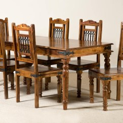 Kitchen Table And 6 Chairs Uk Jcpenney Dining Jali Sheesham 180cm Casa Bella Furniture