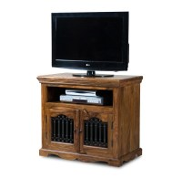 Jali Sheesham Tall TV Cabinet