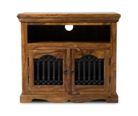 Jali Sheesham Tall TV Cabinet | Casa Bella Furniture UK