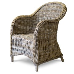 Basket Weave Dining Chairs Pads For Rocking Kubu Rattan Armchair Casa Bella Furniture Uk