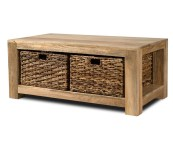 coffee tables with baskets