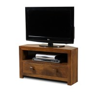 Dakota Mango Small Corner TV Stand