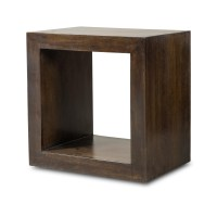 Dakota Dark Mango Cube Side Table | Casa Bella Furniture UK