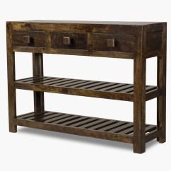 Dark Sofa Tables How To Make Cushions Firm Again Dakota Mango Large Console Table Casa Bella