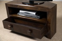 Dakota Dark Mango Small Corner TV Stand | Casa Bella ...