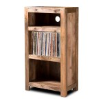 Wooden Furniture Solid Light Mango Low Hi Fi Shelving Open