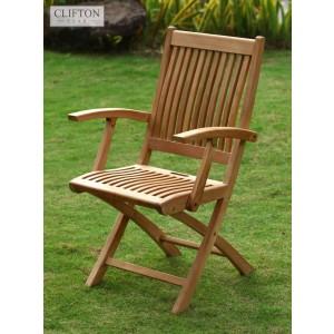 wooden garden chairs uk how to paint metal longlasting solid teak casa bella furniture salisbury folding armchair