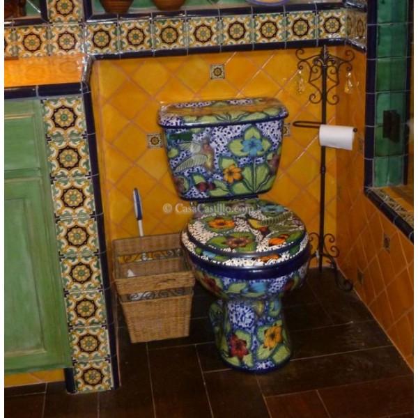 cement kitchen sink free standing cabinet mexican talavera toilet hummingbird