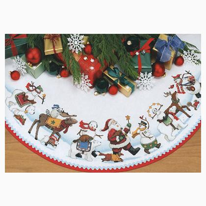 A Merry Parade Tree Skirt From Dimensions Christmas