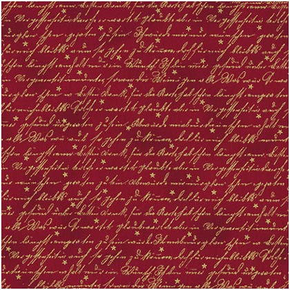 Christmas Greetings Red Script 45x110cm From Stof