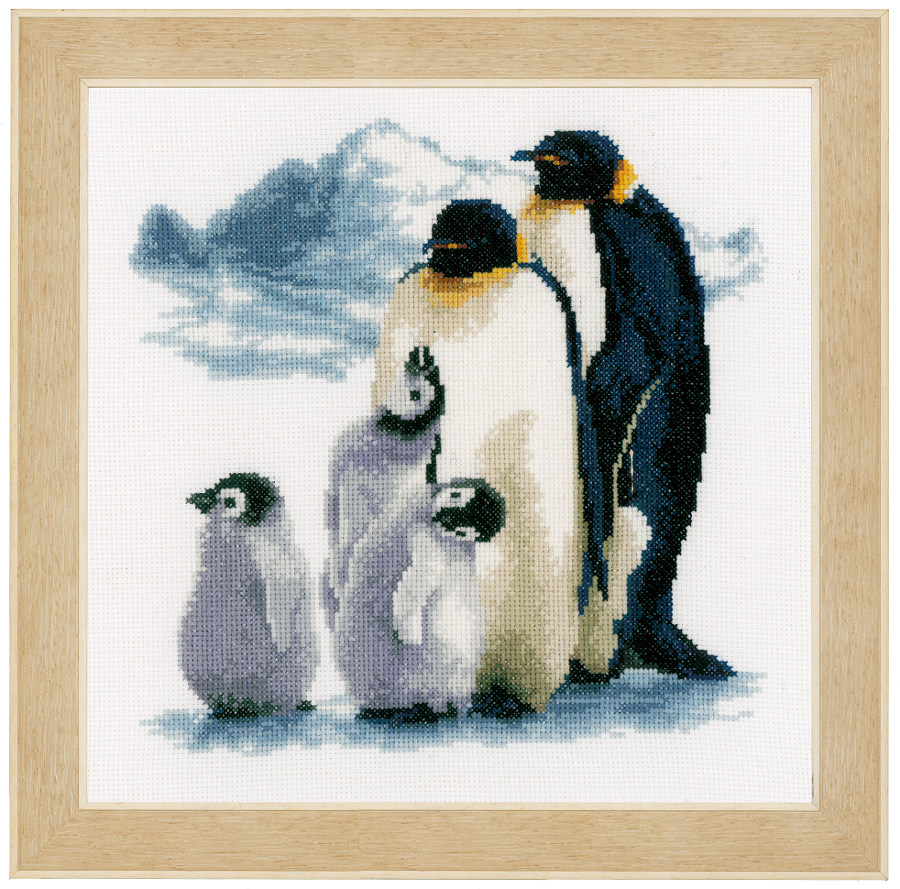 Penguin Family From Vervaco Christmas Cross Stitch