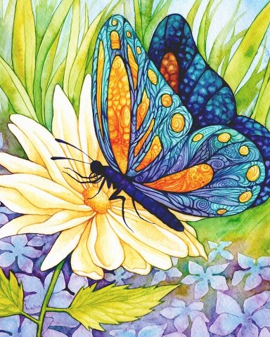 Butterfly with Flower From Artibalta  Diamond Painting