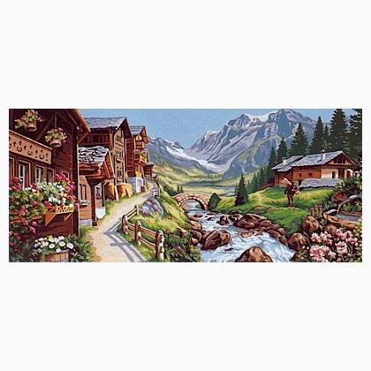 Paesaggio alpino da Margot de Paris  Mezzopunto e Canvas  Kit  Casa Cenina