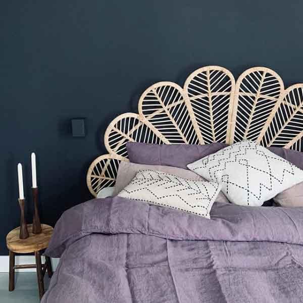 Linnen dekbedovertrek Black Purple - Paars - online te koop bij Casa Comodo