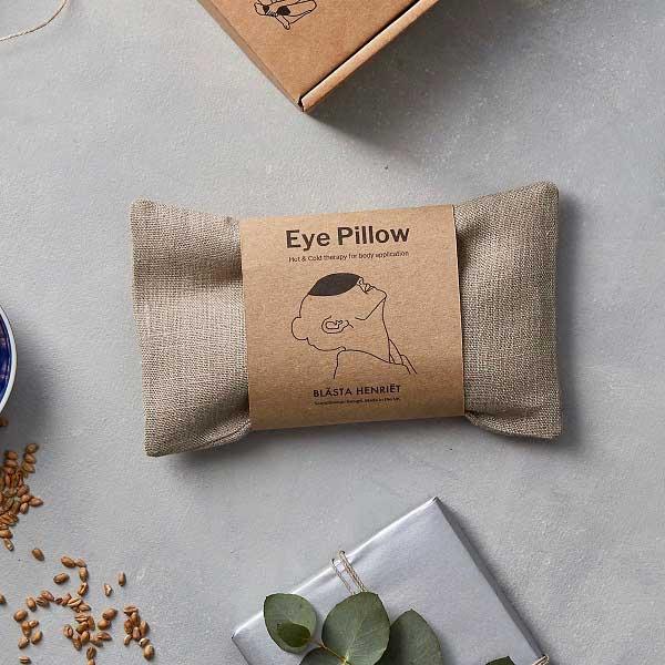 Linnen eye pillow of oogkussen gevuld met tarwe van het merk Blasta Henriët.