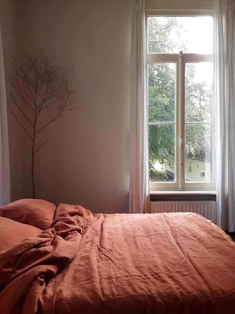 Steenrood ook wel Terra Cotta, linnen dekbedovertrek Baked Clay, merk Casa Homefashion -online te koop bij Casa Comodo