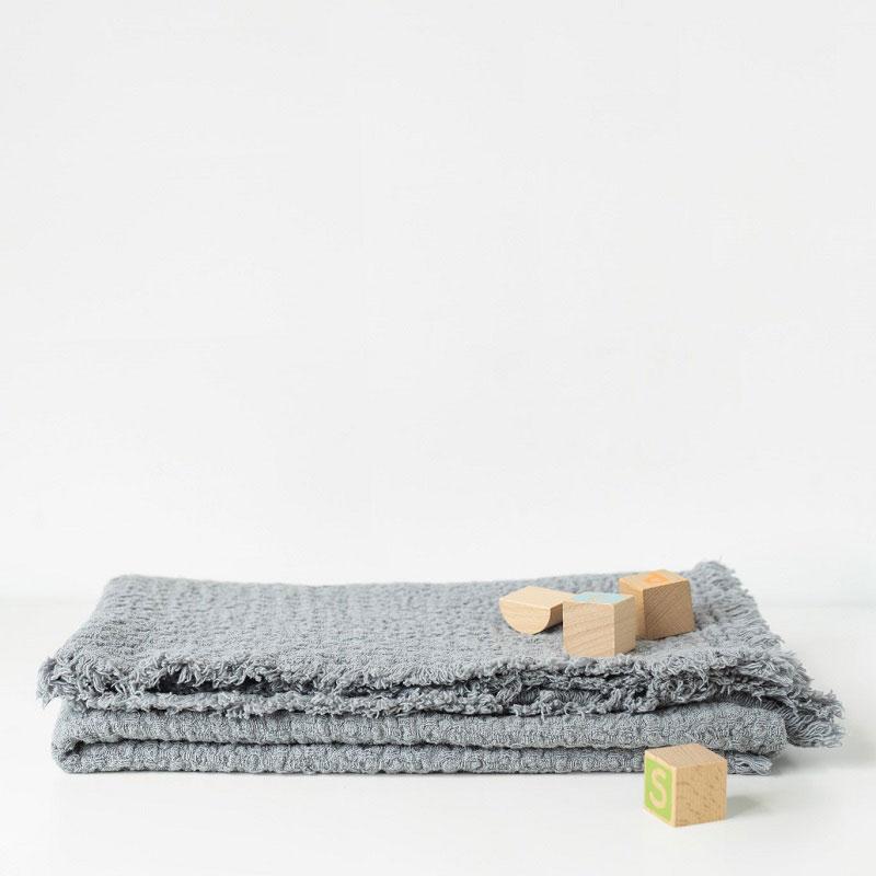 linnen ledikantdeken lichtgrijs - Casa Comodo