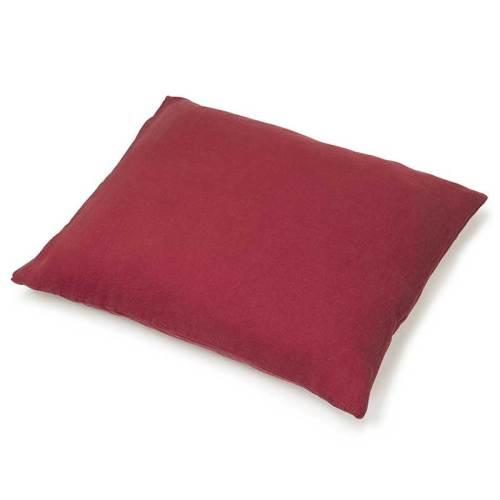 linnen kussensloop warm rood