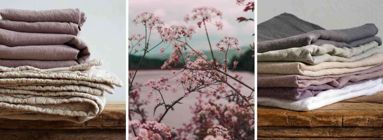 linnen beddengoed oud roze, merk casa Homefashion