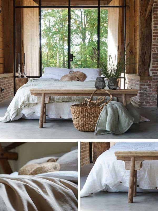 Linen duvet covers Snow White and Wildsage – Casa Comodo