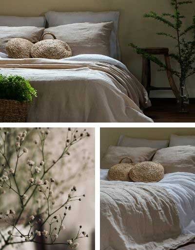 Linen bedding in natural colors – Casa Comodo