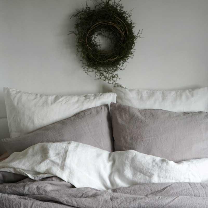Linen duvet cover Pearl Gray – Casa Comodo
