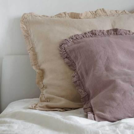 linen pillowcase with ruffle