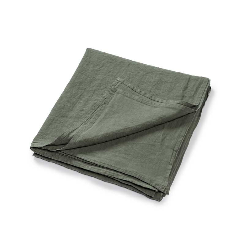 linnen plaid groen