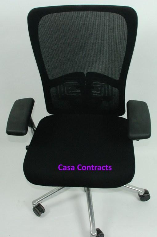 Haworth Zody chair Black fabric base Black mesh back 1