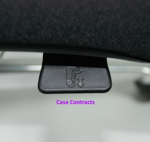 Haworth Zody chair Black fabric base Black mesh back 15