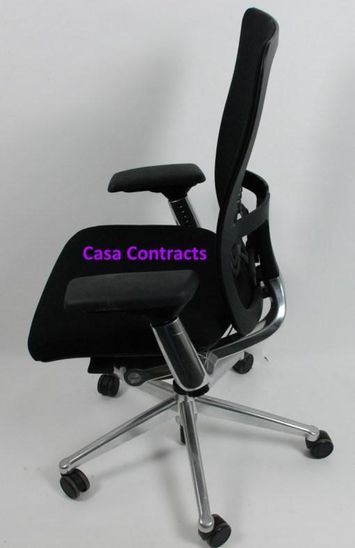 Haworth Zody chair Black fabric base Black mesh back 3