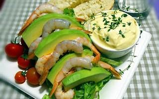Panino gamberi ed avocado
