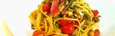 Spaghetti rigati triglie e finocchietto