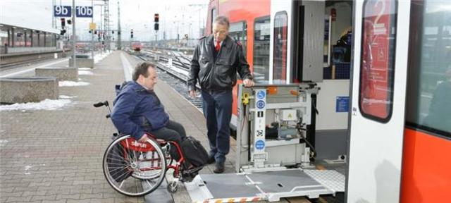 Rampas e equipamentos de acessibilidade nos trens