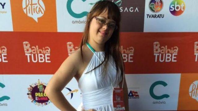 Cacai Bauer em evento para youtubers na Bahia