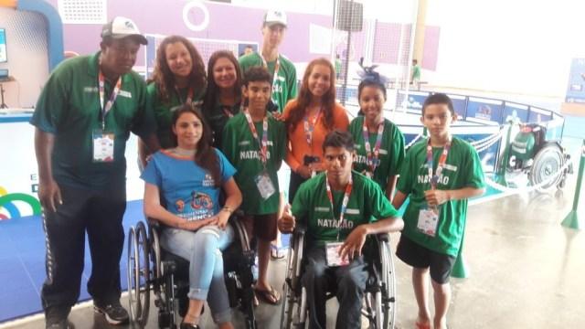 Lais Souza marcopu presença nos Jogos Paralímpicos Escolares em São Paulo (Foto: Marcos Guerra)